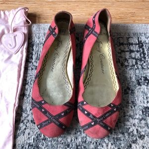 juicy couture pink flats shoes